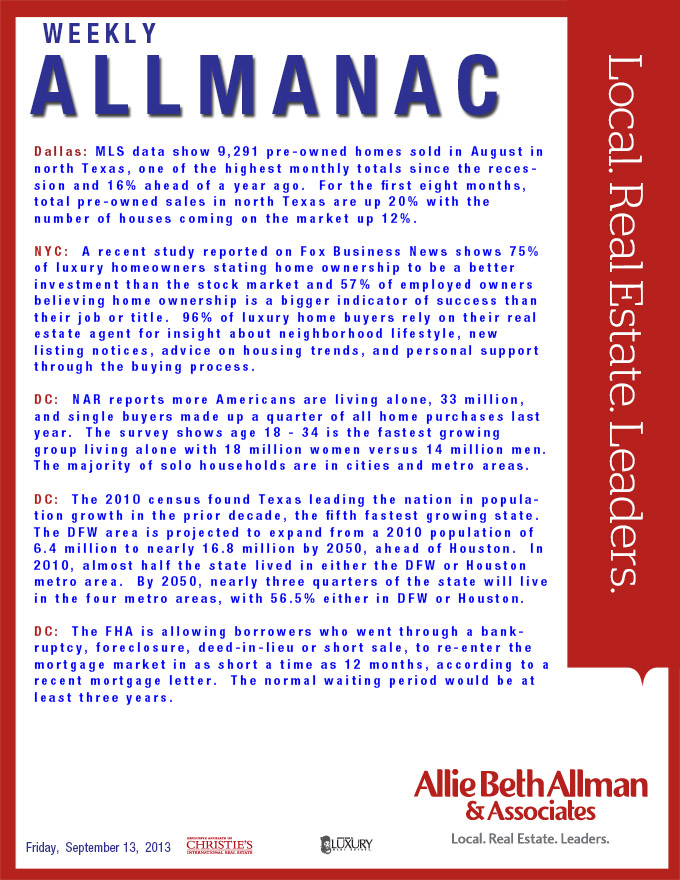 Read the September 13th Allmanac for the latest news in
